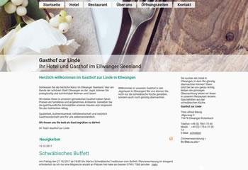 Gasthof zur Linde Webseite