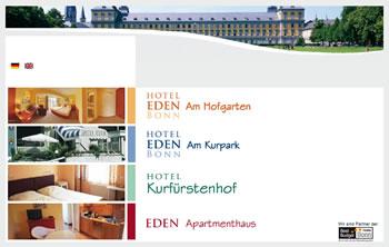 Hotel Eden Webseite