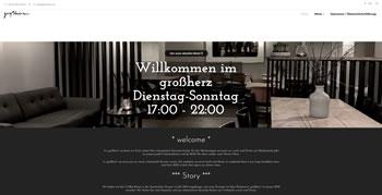 Restaurant Großherz Webseite