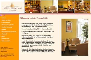 Restaurant im Hotel Terminal Webseite
