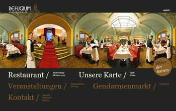 Restaurant Refugium Webseite